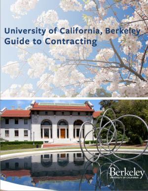 UC Berkeley Guide to Contracting